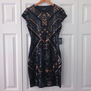 NEW EXPRESS sequin fitted dress size XS